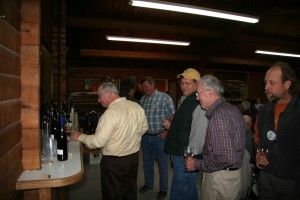 Attendees checking out the wines & beers