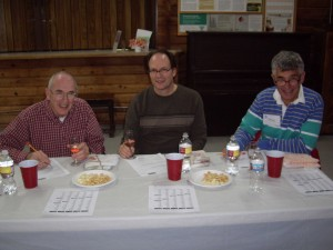 Our Wine Judges Doug,Dave from the Boeing Wine Club and Steve from the NW Wine Academy